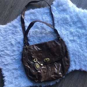 Long live vintage brown fossil crossbody bag